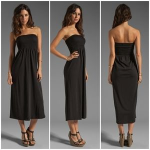 Soft Joie Vanlet Black Smocked Bodice Maxi Dress